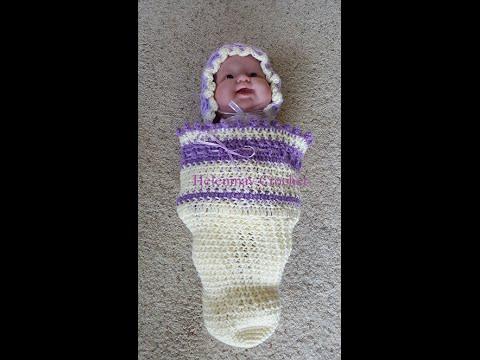 Crochet Easy Baby Cocoon Beginner Version Diy Tutorial Youtube