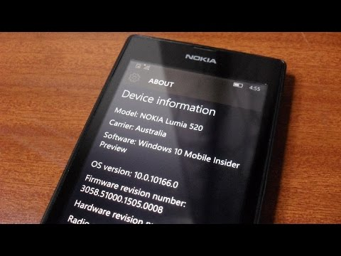 Windows 10 Mobile Insider Preview (Build 10166) Installation & Tour