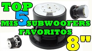 Top 5  Subwoofers Favoritos minis de 8"