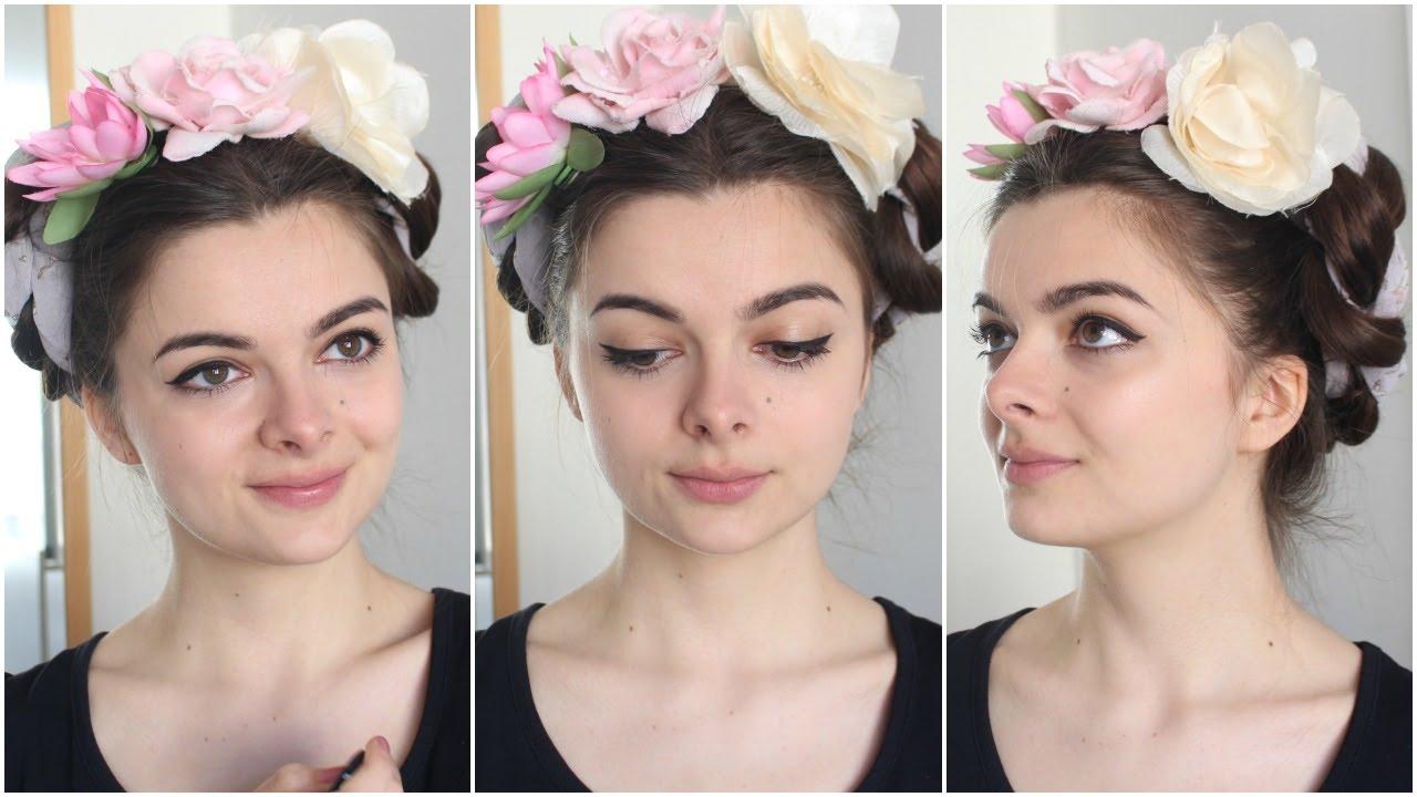 Frida Kahlo Hairstyle Tutorial YouTube
