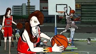 Freestyle 2 Street Basketball Gameplay - Fine Sexy Girl Dunks on QJB - She is Dominating!