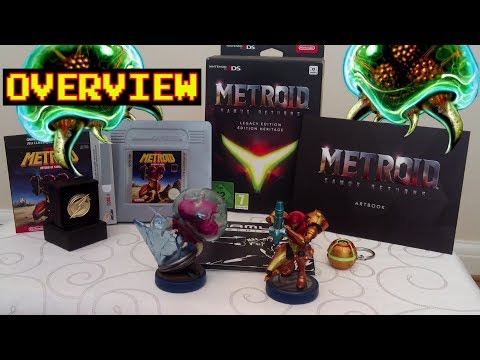 METROID: Samus Returns - LEGACY EDITION & AMIIBO Unboxing and Review