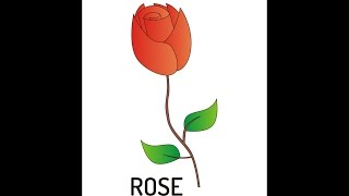 how to draw a rose using coreldraw