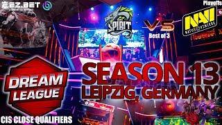 Navi vs Spirit | Best of 3 | DreamLeague Season 13 | CIS Close Qualifier | Playoffs