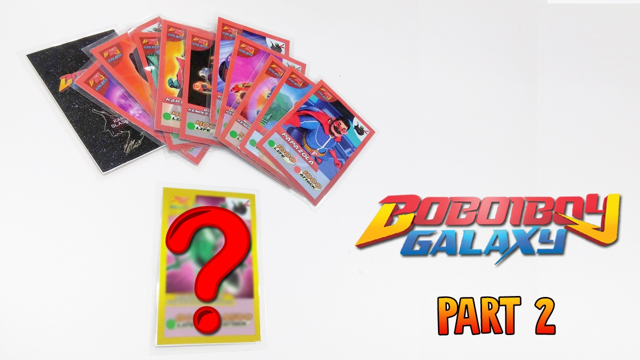 Gold Card Boboiboy Galaxy Cards Part 2 Youtube