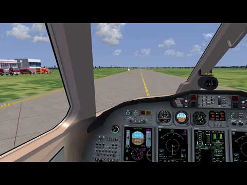 FlightGear CitationX flight from EDDW to EDXW
