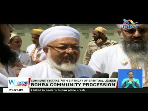 Bohra community in Nairobi celebrate the 75th birthday of their spiritual leader