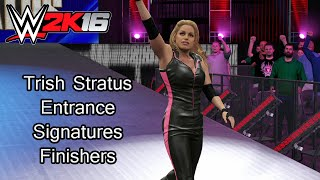 Trish Stratus Entrance, Signatures & Finishers - WWE 2K16 Legends Pack DLC PS4