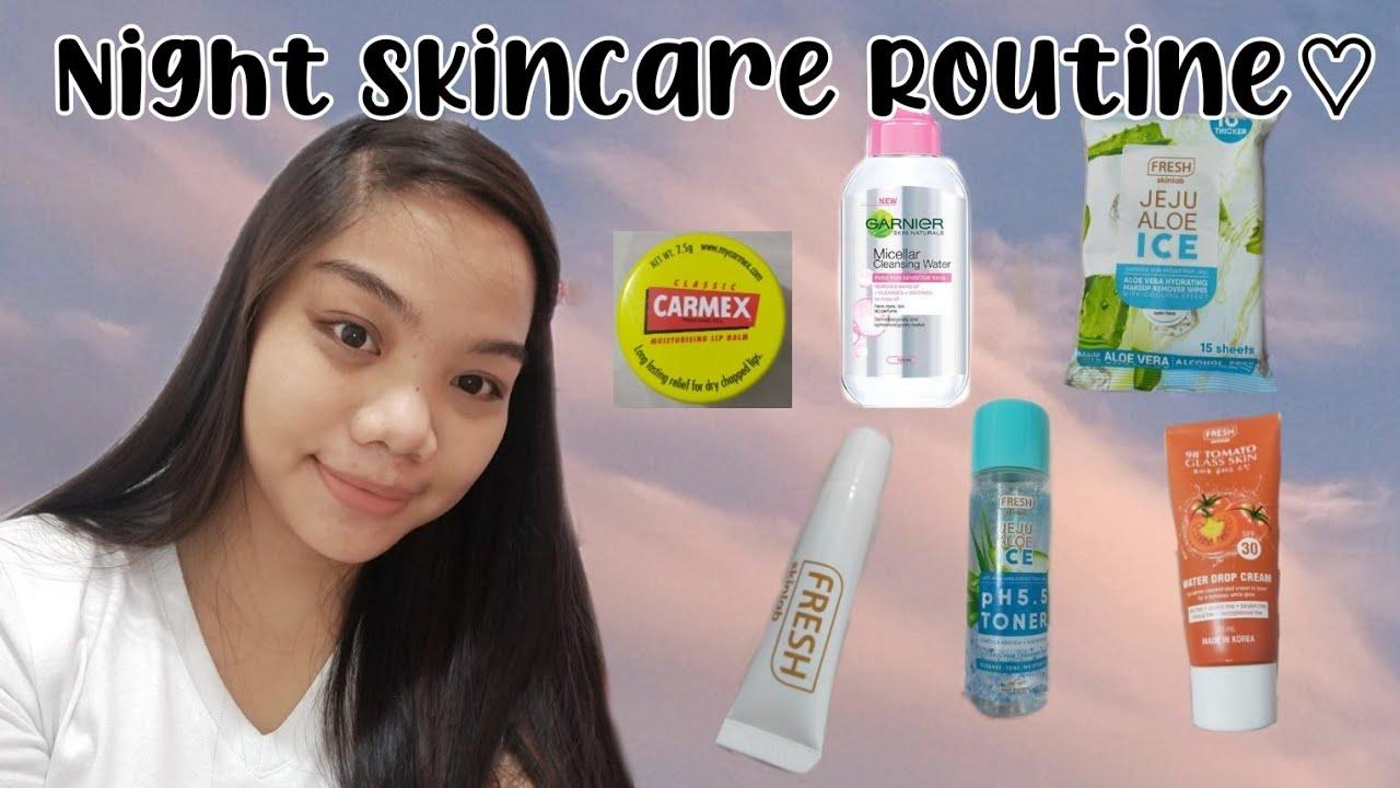 Night Time Skincare Routine ♡ + Glowy Skin [Tamad Version] | Philippines