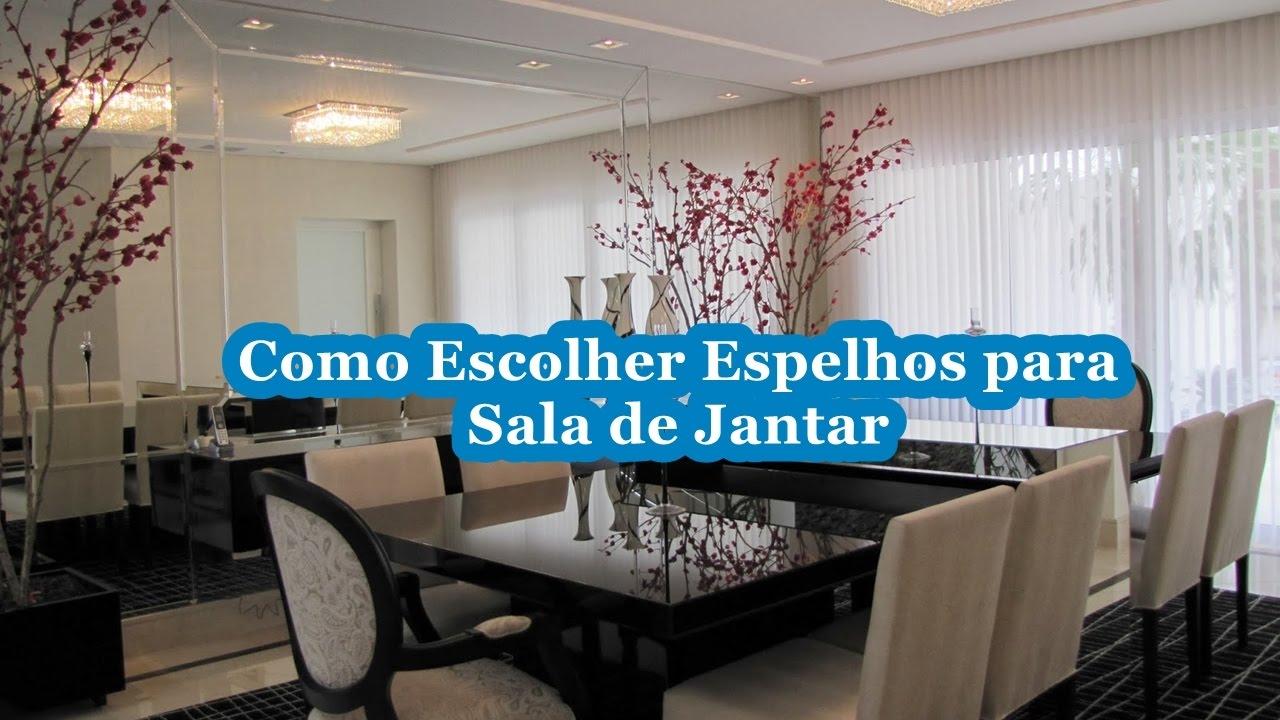 Decorao Com Espelho Na Sala De Jantar Espelho Redondo Com Moldura  -> Sala De Jantar Com Espelho Na Parede