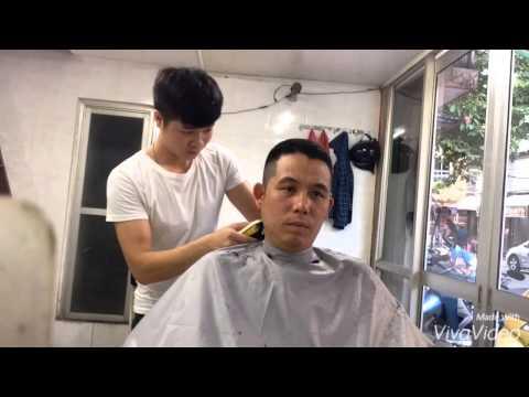 Cắt tóc nam kiểu đầu giả cua