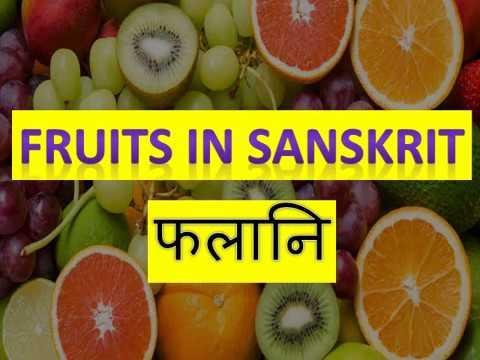 Fruit Names In Sanskrit #sanskrit #fruitnames