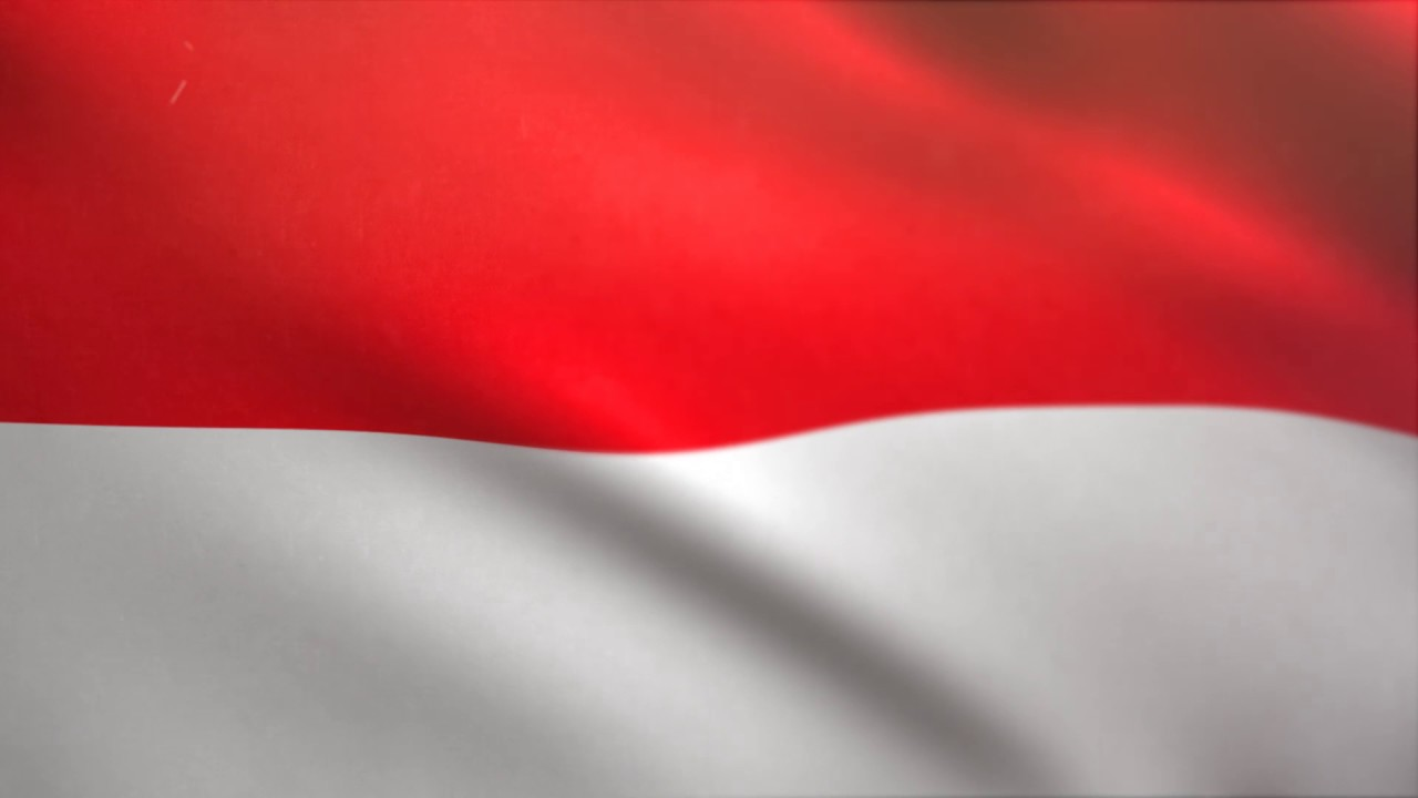 indonesian flag waving animated
