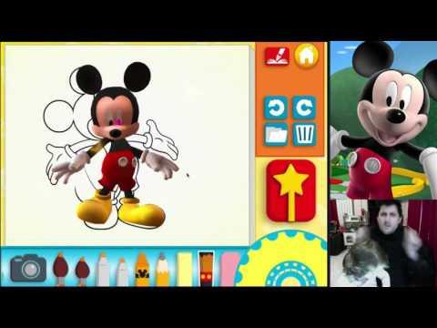 Coloriage Alphabet Titounis.La Maison De Mickey Coloriages Entre 2d Et 3d Youtube