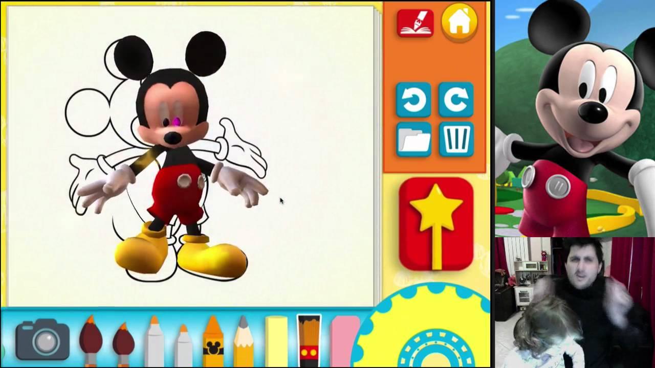 La Maison De Mickey Coloriages Entre 2d Et 3d Youtube