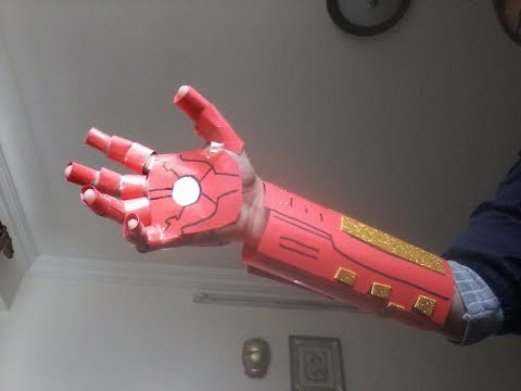 How to make an easy paper Iron man hand.