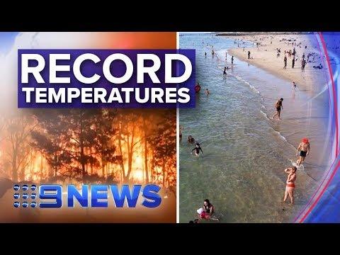 Australia records hottest day in history | Nine News Australia