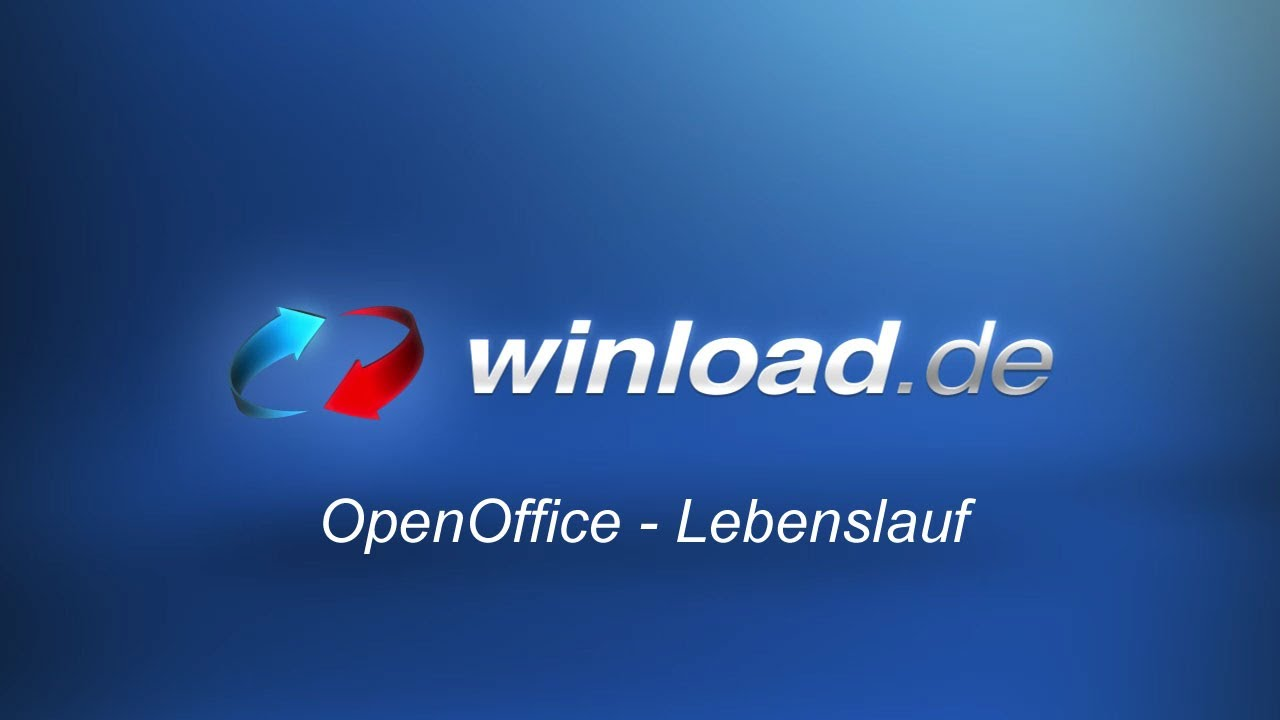 Openoffice Lebenslauf Erstellen Winoadde Youtube