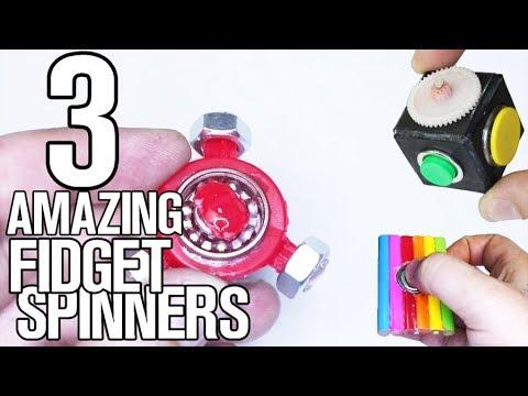 3 Amazing & Homemade Fidget Spinners DIY