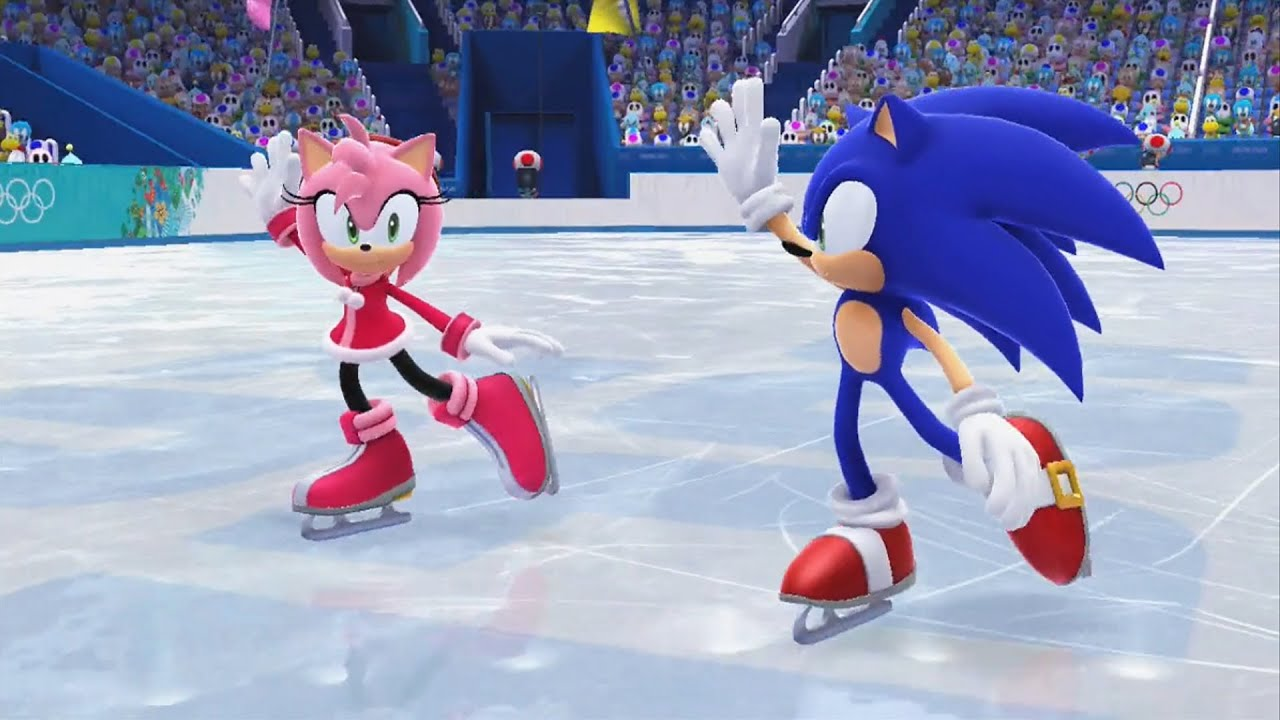 Mario and sonic at the sochi 2014 olympic winter games figure mario and sonic at the sochi 2014 olympic winter games figure skating pairs wii u youtube voltagebd Gallery