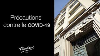 Précautions contre le COVID-19 chez Vandoren