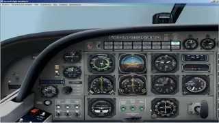Полет на CESSNA С 208 по ВОР маякам для начинающих в FSX
