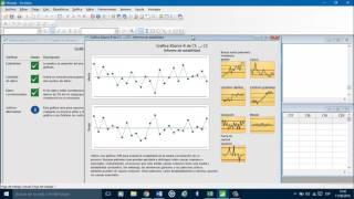 Como elaborar gráficos de control en Minitab 17