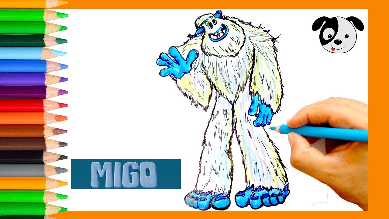 How To Draw Migo From Smallfoot Movie Draw For Kids Art