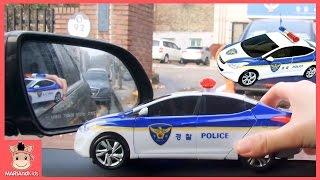 카봇 경찰차 실제로 운전해서 도로 운전 하기 놀이! 택시 경찰차 변신 자동차 또봇 carbot car toys | 말이야와아이들 MariAndKids
