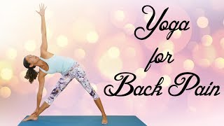 Yoga to Nourish the Spine & Relieve Back Pain ♥ Neck, Low Back Pain Stretches, Flexibility, 20 Min.