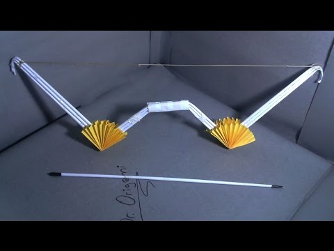  DIY  How to make a paper dr. 002' bow and arrow' - Dr. Origami