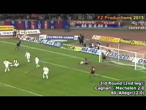 1993-1994 Uefa Cup: Cagliari Calcio All Goals