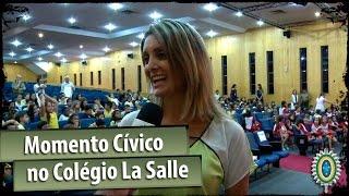 Alunos do Colégio La Salle têm Momento Cívico com o Exército Brasileiro