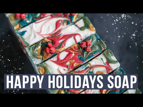 Happy Holidays Cold Process Soap Making   Royalty Soaps