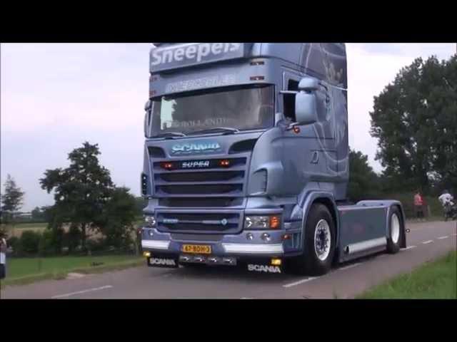 Nog Harder Lopik 02072014 Trucks loud pipes SOUND - Lastbilshow Lopik