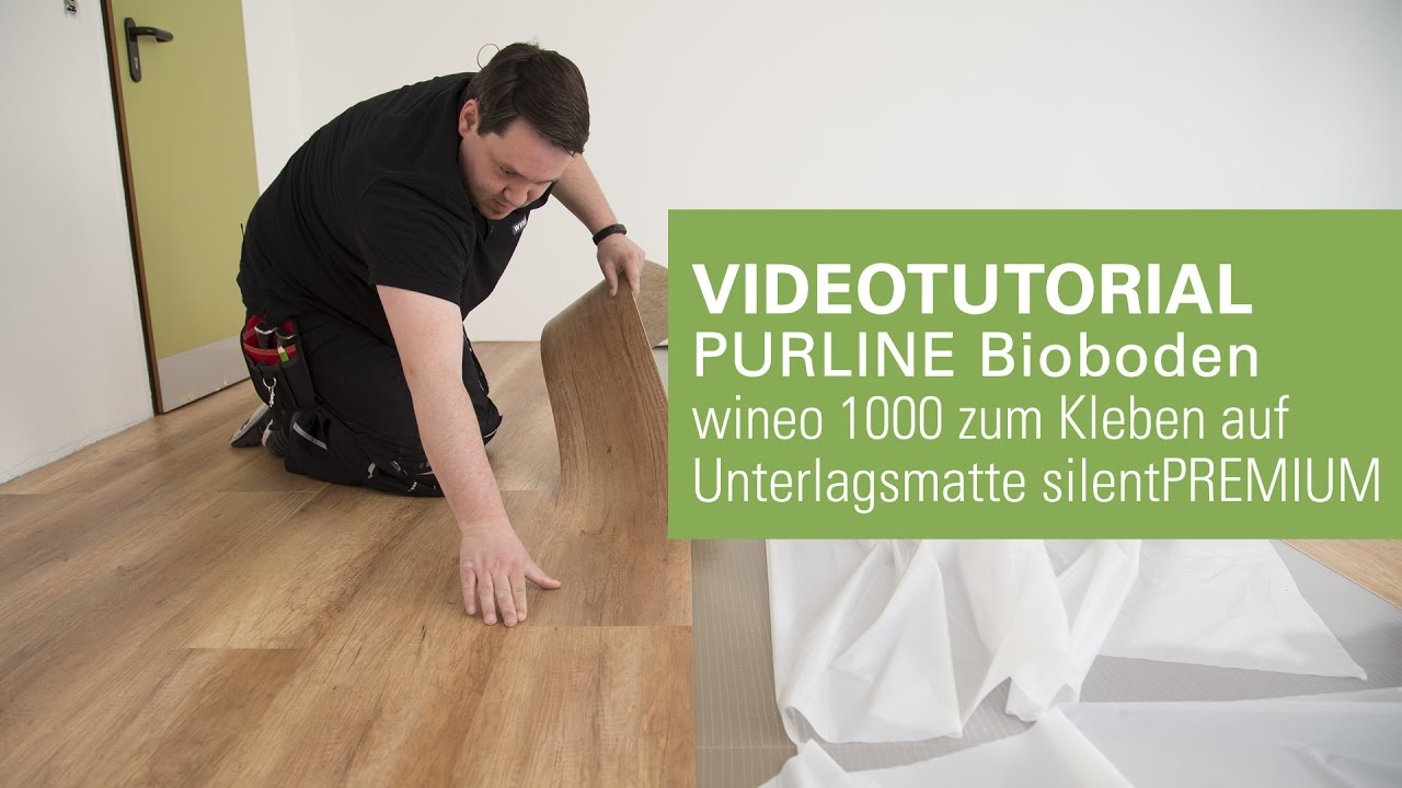 Beliebt Verlegung PURLINE Bioboden oder Vinylboden ohne Klebstoff auf RE25