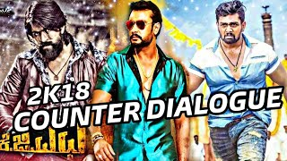 Yash Vs dhruva Sarja and darshan dialogue DJ song