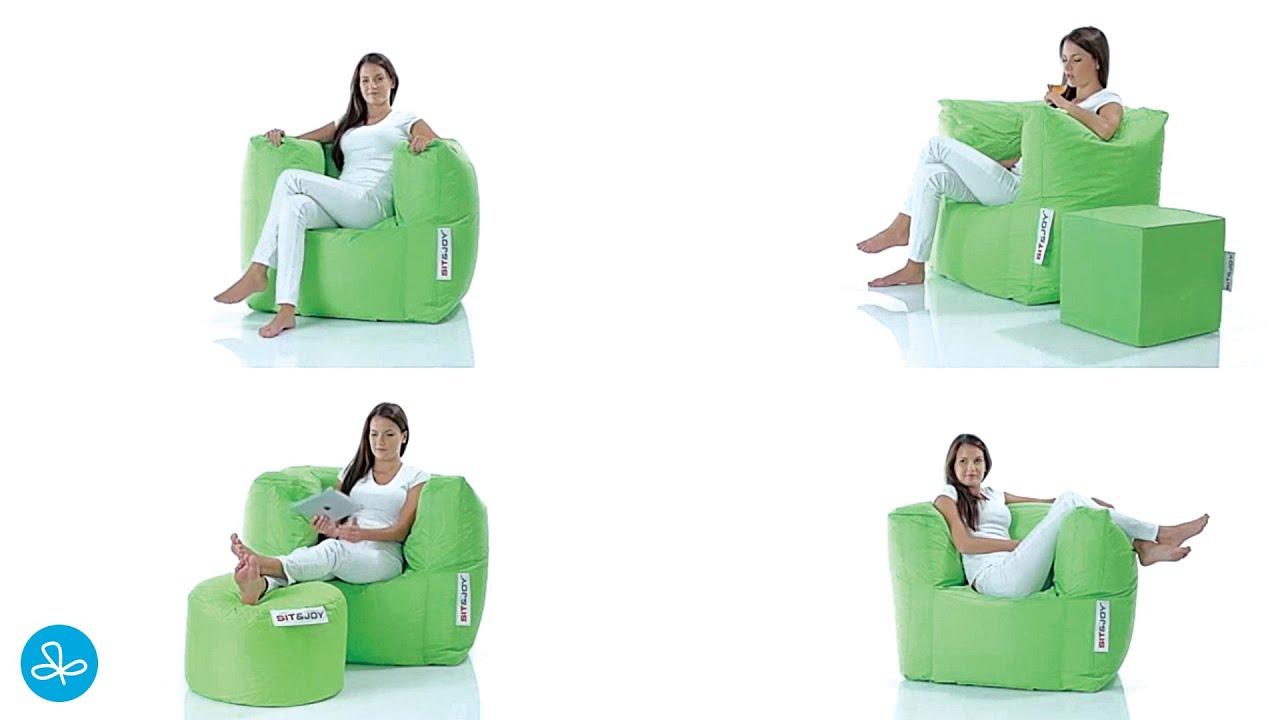 Zitzak Sack It.Sit Joy Lounge Chair Zitzak Youtube