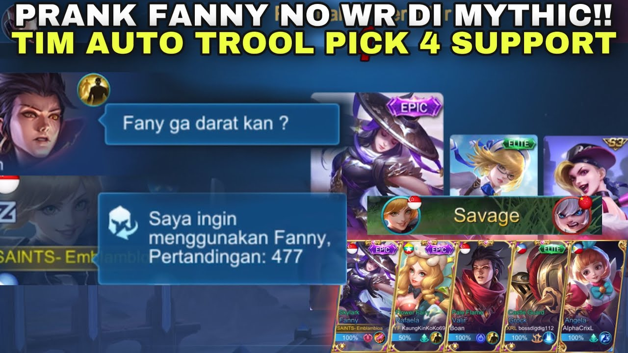 477 MATCH FANNY NO WR PICK DI MYTHIC! TIM AUTO TROOL PICK 4 SUPPORT KWKW!! PRANK FANNY NGESOT