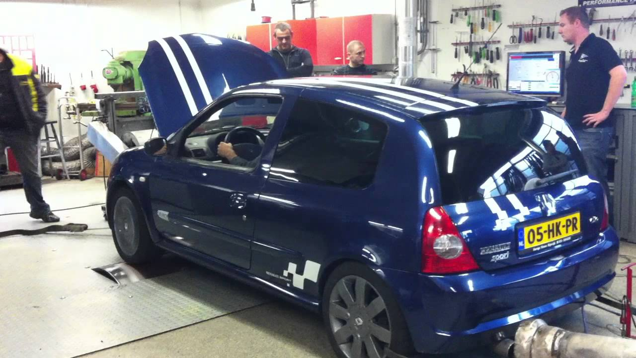 renault clio rs 2 0 16v rs 172 on dyno youtube. Black Bedroom Furniture Sets. Home Design Ideas