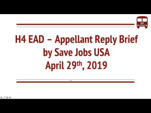 H4 EAD Updates(Sep 2019) Updated Save Jobs Briefs, OMB Review on