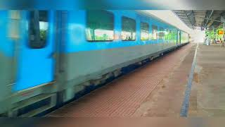 Intercity Express Passing Through A Station.. Eastern Railways..