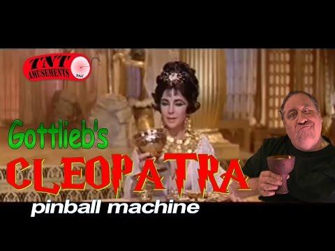 #824 Gottlieb CLEOPATRA Pinball Machine upgraded with Electronic Sound! TNT Amusements