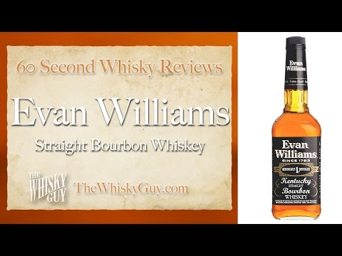 Evan Williams Straight Bourbon Whiskey - 60 Second Whisky Review #049