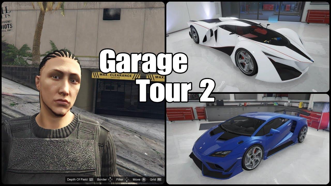 Gta 5 online insane 10 car garage tour 2 youtube for Garage auto tours