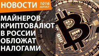 Майнеров криптовалют в России обложат налогами. Новости
