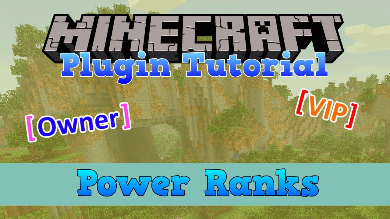 Minecraft Power Ranks Plugin Tutorial YouTube - Minecraft server range erstellen