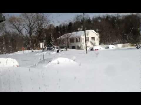 Massive Snow Blizzard in Hamden, CT - Snow Storm Nemo Feb 2013