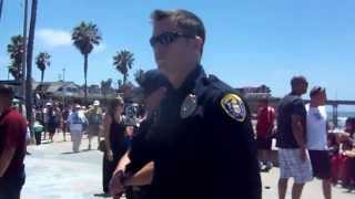 first footage of police harrasment at ocean beach chili cookoff 2013