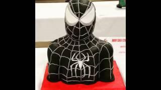 Spiderman Bust Cake ( Timelaps )